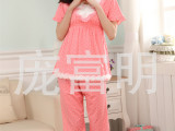 睡衣批发淘宝爆款韩板流行风格夏季牛奶丝圆点短袖睡衣厂家直销