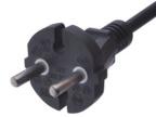 电源线厂家直销批发2*0.5*1.5米欧标欧规VDE两芯插头电源线