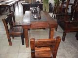 老船木茶桌方形简约现代中式仿古茶台茶几椅组合家具厂家特价批发