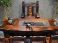 益阳尚亿老船木茶桌椅船木办公桌电脑茶台原生态茶几