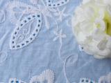 蝴蝶绣花面料 全棉绣花 服装用布 蝴蝶花型 44