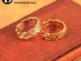 义乌小商品混批 地摊货源 日韩时尚 欧美个性复古 金属树叶戒指