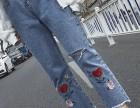 10元尾货牛仔裤批发休闲女装 工厂直销安徽合肥哪里有赶集爆款