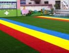 免充砂足球场人造草坪足球场假草皮施工