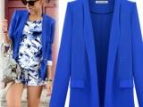 四色四码2014新款欧美新款长袖西服女修身小西装 宽松女外套 1