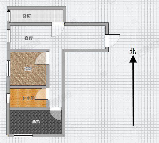外滩叁号 精装修2居 室家具家电齐全 可短租 拎包入住 随时