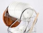 碗碟架厨房置物架用品304不锈钢双层沥水架晾碗刀架