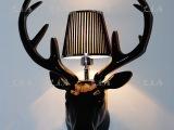 北欧壁灯酒店工程灯树脂装饰壁灯电视墙灯动物鹿角头壁灯厂家直供