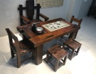 中式老船木茶桌椅组合方形客厅实木家具功夫茶台