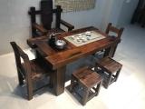 老船木茶桌功夫茶台会所酒店茶几异形弧形