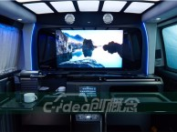 大众T5室内装潢隔断设计,改装升降电视/电动窗帘