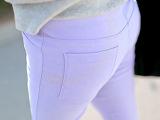 义乌春夏新款女士外穿打底裤显瘦弹力九分小脚铅笔裤薄 韩国原单
