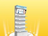 经典单灯箱护肤背柜 化妆品展示柜 展示架 超市货架 促销架