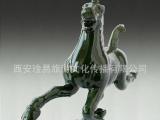 供应陶瓷马踏飞燕单色釉瓷 陶瓷厂家批