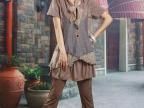 2014夏装新款森女文艺棉麻部落上衣T恤裙装外贸亚麻秋零点 女
