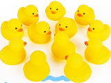 6公分鸭子12只装 儿童洗澡玩具洗澡小黄鸭捏叫小鸭子 婴儿玩具