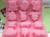 十二生肖!硅胶蛋糕模具 手工皂模具 布丁果冻模具 DIY模具 2