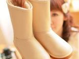 厂家批发2013冬季新款雪地靴韩版 保暖防水棉鞋 牛筋底中筒女靴