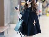 2013新款秋冬装韩版毛呢大衣斗篷毛呢外套披肩