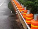 青岛新盛专业生产公路旋转桶护栏 隧道口EVA护栏