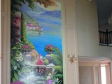 手绘墙艺|上海酒吧壁画|手绘金箔画|上海3D壁画