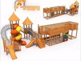 户外儿童滑梯 游乐组合滑梯 木质攀爬滑梯 原生态树屋滑梯定制