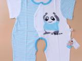 宝宝连身衣夏季婴儿服装婴幼儿短袖连体哈衣加胖0-1岁外出服童装