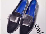2014年欧美外贸新款女鞋品牌鞋 真皮平底舒适单鞋 小方头豆豆鞋