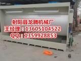江苏环保行业尖兵水帘喷漆房定制龙腾设备水帘柜厂价直销1-6米