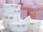 金丝芙蓉陶瓷韩式餐具套装 创意礼品温馨碗勺套装 活动赠品米饭碗