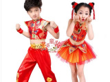 批发儿童男女水鼓服快板舞蹈中国风现代舞开场舞打鼓秧歌演出服装
