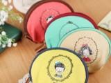 A010 韩版小清新童年系 帆布零钱包/化妆包/多功能包包/收纳