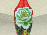 供应喷涂酒瓶烤花玻璃酒瓶喜酒瓶子500ml红花酒瓶玻璃瓶
