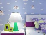 新款卡通动画喜羊羊儿童房纯纸墙纸环保壁纸卧室 儿童房墙纸批发