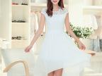 2015夏季新款女装沙滩长裙韩版大码修身气质雪纺波西米亚连衣裙女