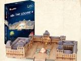 乐立方3D立体拼图创意玩具 法国巴黎卢浮