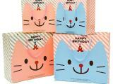 卡通可爱中号生日礼品袋纸袋 卡通小猫包装袋 回礼袋手提袋 童装