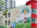 菏泽幼儿园卡通喷画 手绘墙