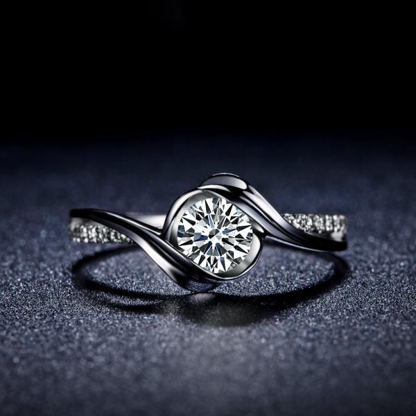 武汉久福源珠宝,定制钻戒婚戒对戒,钻戒1888元