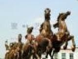 定做大型欧式雕塑工艺品城市艺术品广场装饰摆设战车凯旋八匹跃马