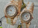 正品陶瓷手表 韩版时尚女士防水手表 镶钻白色腕表 学生女表批发