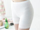2015新款莫代尔透气打底裤女蕾丝边防走光安全裤大码三分批发