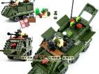 启蒙拼装玩具正品 乐高式拼装积木 814装甲车 军事塑料积木 300g