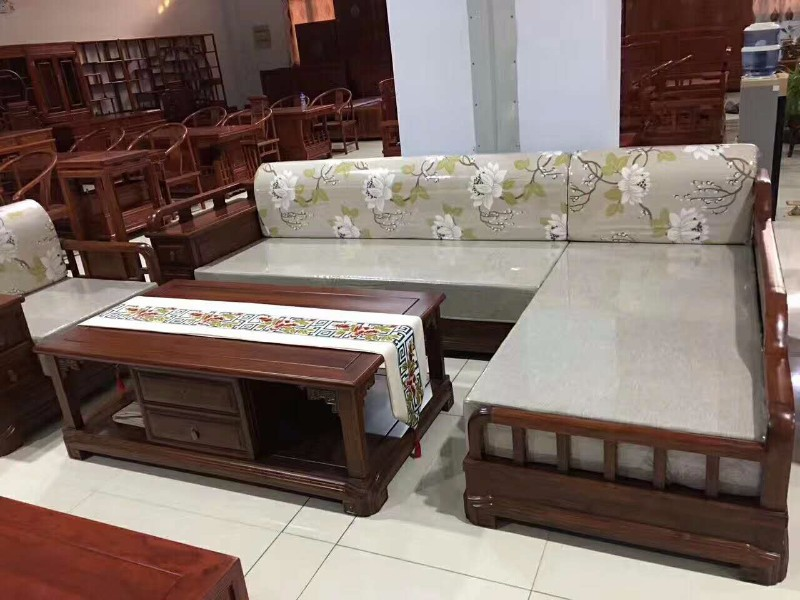 泊头星河老榆木家具古典中式沙发 老榆木家具定制厂家