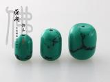 天然优化绿松石桶珠 绿松石柱子 散珠绿松石桶子珠佛珠饰品配件