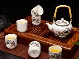 和德厂家批发定制 德化陶瓷 定窑提梁壶茶具套装 亚光大号茶杯