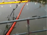 保證機組運行 水電站攔污塑料浮筒的安裝