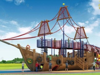 北京同兴伟业直销幼儿园滑梯 木质拓展滑梯户外游乐园轮胎攀爬架