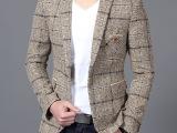 迷森 2015春季新品韩版修身小西装男 纯棉休闲西服男外套潮63