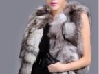2014优质进口新款狐狸毛皮草无袖短款马甲披砍肩修身背心外套批发